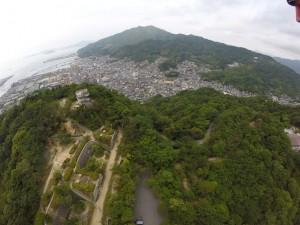 阿賀町方面 背景は休山。