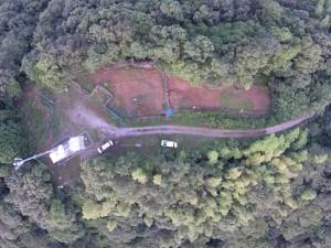 螺山山頂 テレビ塔と畑