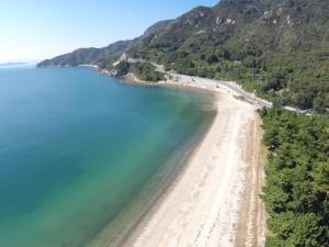 きれいな砂浜は、40年前と変わりません。