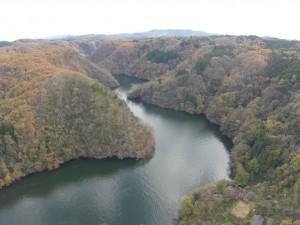 帝釈川ダム方向