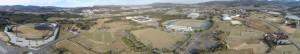 陸上競技場と野球場のパノラマ写真