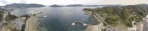 江田島湾のパノラマ写真